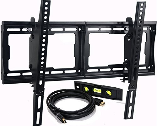"(VIDEO Review) VideoSecu Mounts Tilt TV Wall Mount Bracket for Most 23""- 75"" Samsung, Sony, Vizio, LG, Sharp LCD LED Plasma TV with VESA 200x100 400x400 to 600x400mm, Bonus HDMI Cable and Bubble Lev"