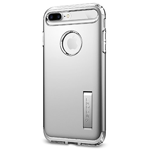 (VIDEO Review) Spigen Slim Armor iPhone 7 Plus Case with Air Cushion Technology and Hybrid Drop Protection with Kickstand for iPhone 7 Plus 2016 - Satin Silver