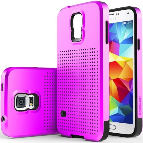 (VIDEO Review) Galaxy S5 Case, Caseology® [Air Mesh Series] Dual Layer Impact Resistant [Purple] [Shock Absorbent ] for Samsung Galaxy S5 - Purple