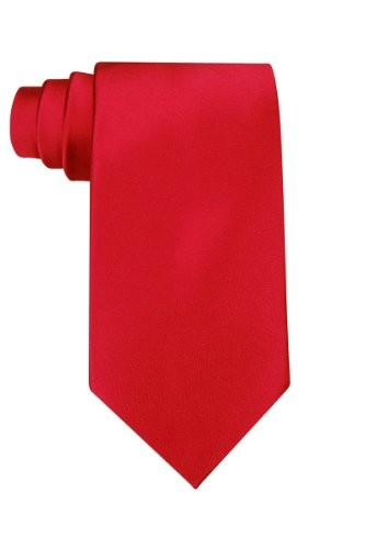 (VIDEO Review) Solid red polyester tie