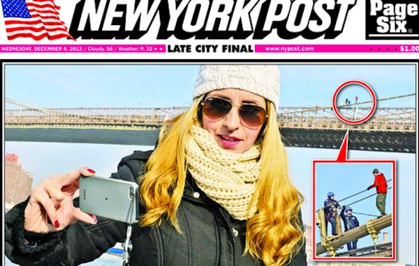 Bridge selfie (Source:New York Post)