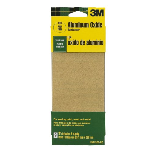 Medium Grit 3M 9016 General Purpose Sandpaper Sheets 3-2//3-Inch by 9-Inch