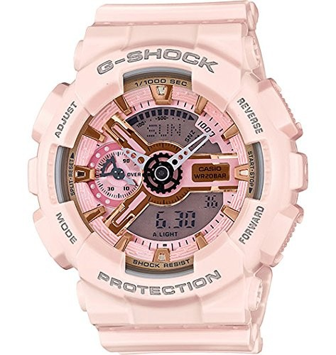 (VIDEO Review) Casio G-Shock Gold and Pink Dial Pink Resin Quartz Ladies Watch GMAS110MP-4A1