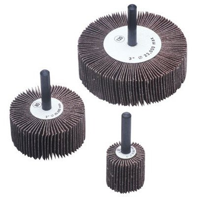 10 Pack Benchmark Abrasives 2 x 1 x 1//4 Shank Mounted Aluminum Oxide Flap Wheels 80 Grit