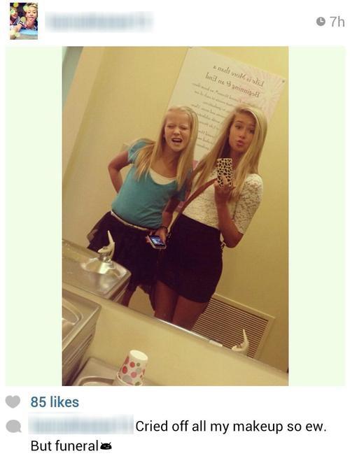 Funeral selfie (Instagram