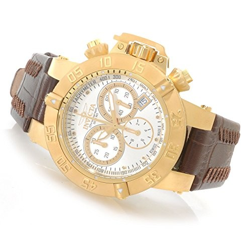 (VIDEO Review) Invicta Women's Subaqua Noma III Swiss Made Quartz Chronograph Stainless Steel Leather Strap Watch