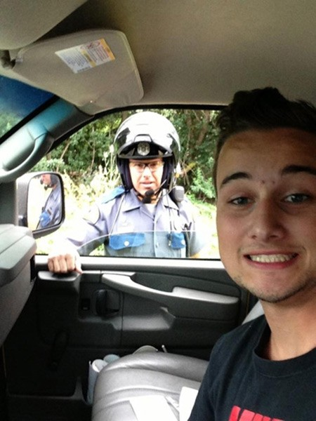 Selfie with the cops