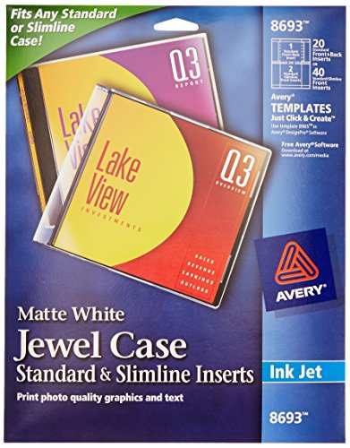 50 Pack Memorex Jewel Case Inserts