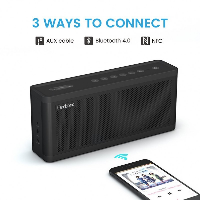 (VIDEO Review) Bluetooth Speaker Bass Control Cambond Wireless Portable Loud Speaker