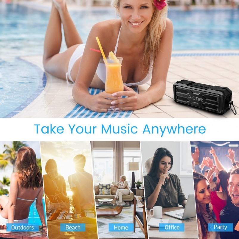 (VIDEO Review) Pictek Bluetooth Speakers, [20W 30Hours 4400MAH]
