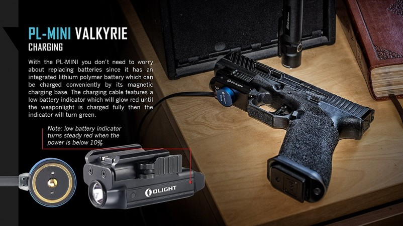 (VIDEO Review) Olight PL-MINI Valkyrie 400 Lumens CREE XP-L HI Magnetic USB Rechargeable Weapon Light