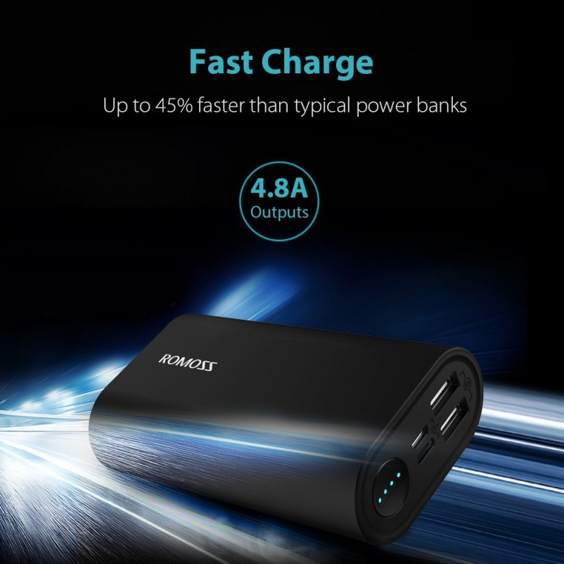 (VIDEO Review) Portable Charger with the Longest Battery Life, ROMOSS 10000mAh Aluminum Power Bank 2-Port 4.8A Max Output