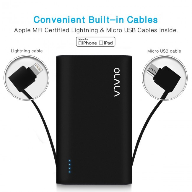 [Apple MFi Certified] OLALA S70-i 7800mAh Ultra-Compact Portable Charger