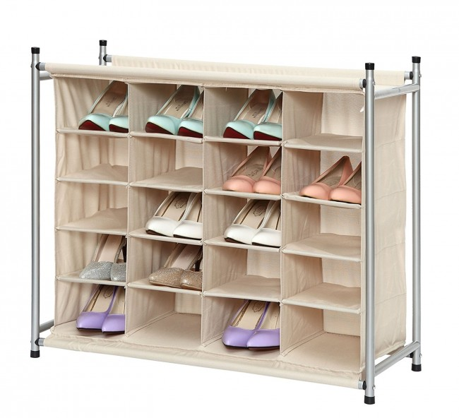 StorageManiac 5-Tier 20-Pair Shoe Rack
