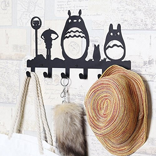 decor japan wall coat rack hat clothes bag hook decorative.htm top 22 best products for totoro and miyazaki animation fans  totoro and miyazaki animation fans