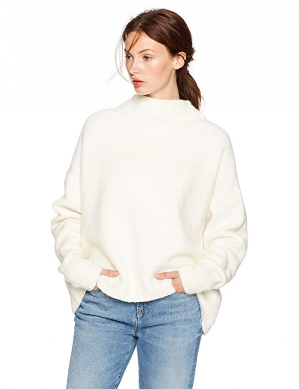 Cable Stitch Mock Neck Sweater