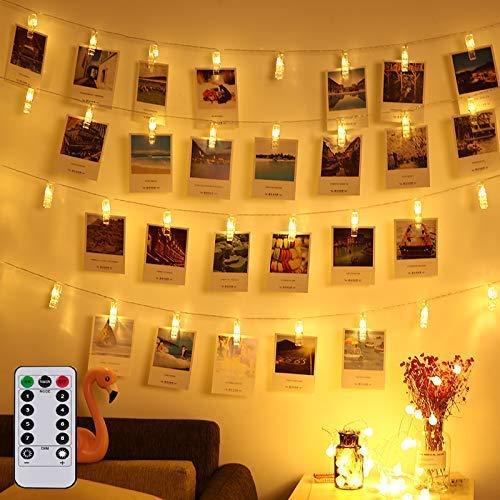 Magnolian LED Photo Clip Remote String Lights