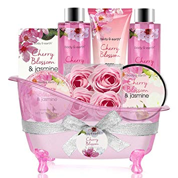 Bath Set for Women - Body&Earth 8pcs Gift Basket