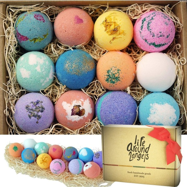 The Original 12 Pack Bath Bomb Gift Set by LifeAround2Angels