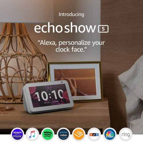 Echo Show 5 Compact Smart Display with Alexa