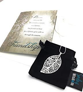 Smiling Wisdom Silver Leaf Necklace Gift Set