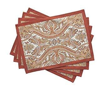 Maison d'Hermine Kashmir Paisley 100% Cotton Set of 4