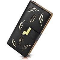 PGXT Women's Long Leather Card Holder Purse