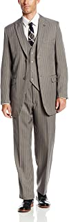 Stacy Adams Men's Mars Vested 3-Piece Suit