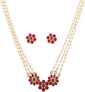 Touchstone Mughal Collection Indian Bollywood Faux Pearls Charming Grand Bridal Necklace Set