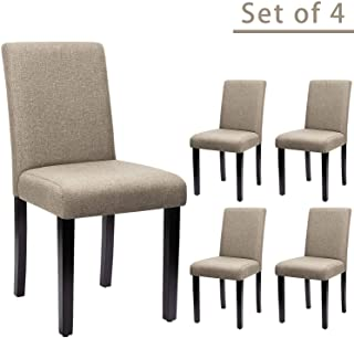 Furniwell Dining Chairs Fabric Upholstered Parson Chairs