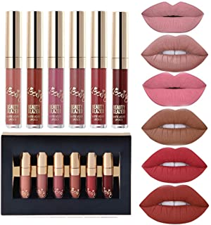 6 pieces Matte Velvety Liquid Lipstick
