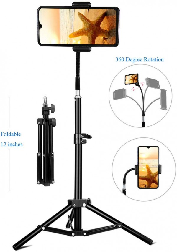 Phone Tripod, Pixel Flexible Cell Phone Tripod for Video Recording