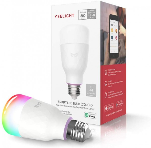 YEELIGHT Smart LED Bulb, Multi Color Rgb