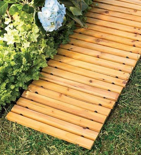 Plow & Hearth 52127 Weather-Resistant Straight Cedar Pathway