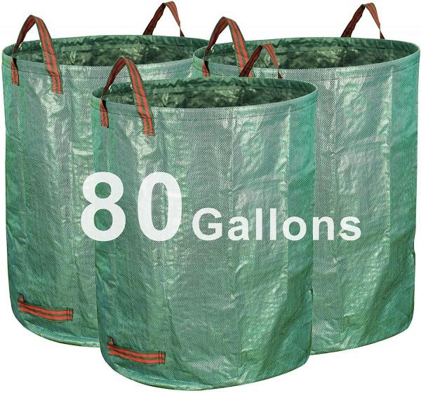 Gardzen 3-Pack 80 Gallon Garden Bag
