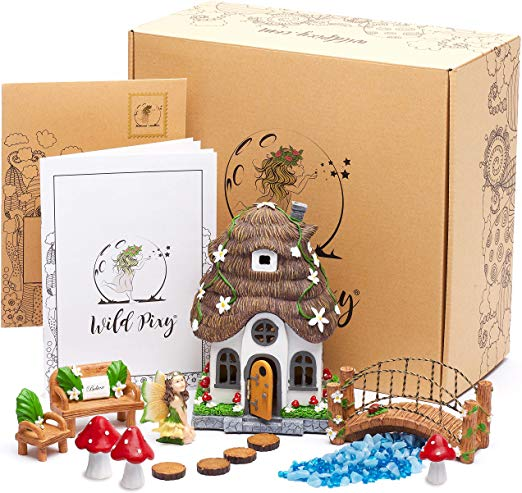WILD PIXY Fairy Garden Accessories Kit