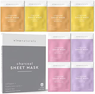 Face Mask for Korean Skincare - Sheet Mask for Detoxifying, Cleansing, Moisturizing and Brightening Skin