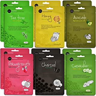 Celavi Essence Facial Face Mask Paper Sheet Korea Skin Care Moisturizing 12 Pack