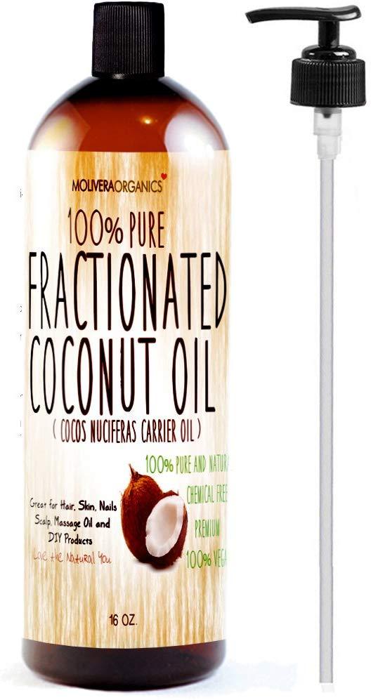 Molivera Organics Fractionated Coconut Oil 16 oz.