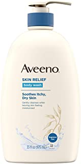 Aveeno Skin Relief Fragrance-Free Body Wash with Oat to Soothe Dry Itchy Skin