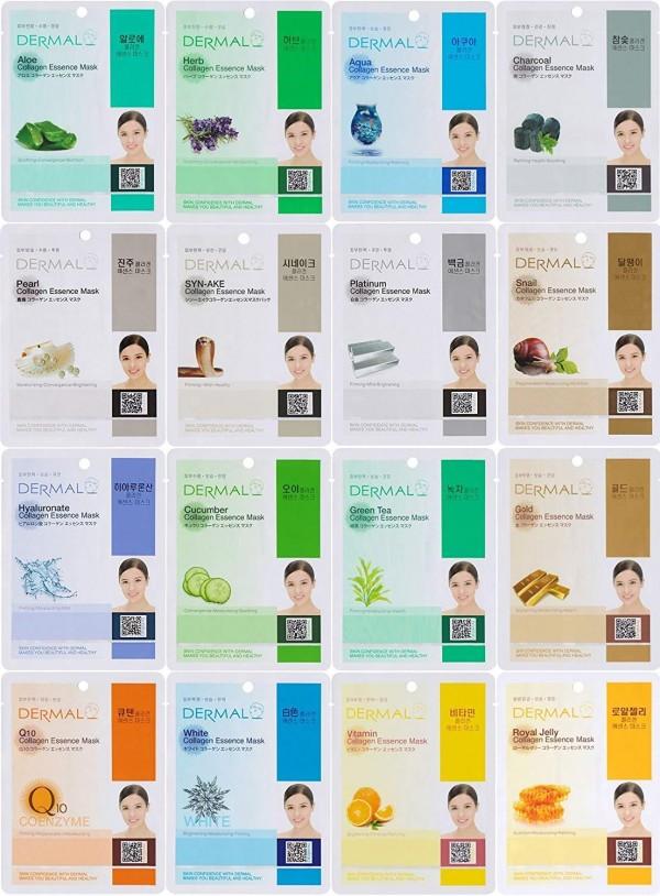 Dermal Korea 16 Combo Pack Sheet Masks