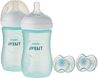 Philips Avent Natural Baby Bottle Teal Gift Set, SCD113/24
