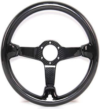 Hiwowsport Carbon Fiber Racing Steering Wheel 300mm Diameter Bolts