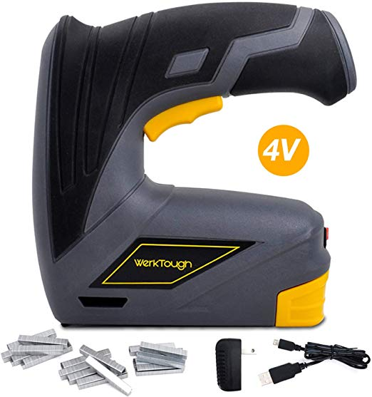 Werktough CSG01 Cordless Staple Gun DIY Electric Stapler Tacker Rechargeable USB Charger