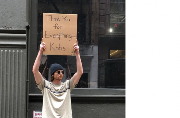 Dude with sign
