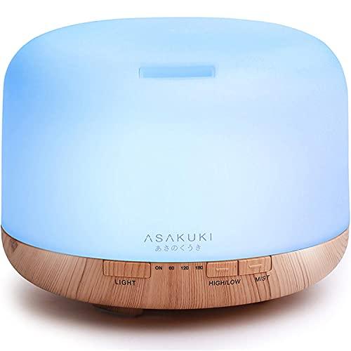 ASAKUKI 500mL Premium Essential Oil Diffusers