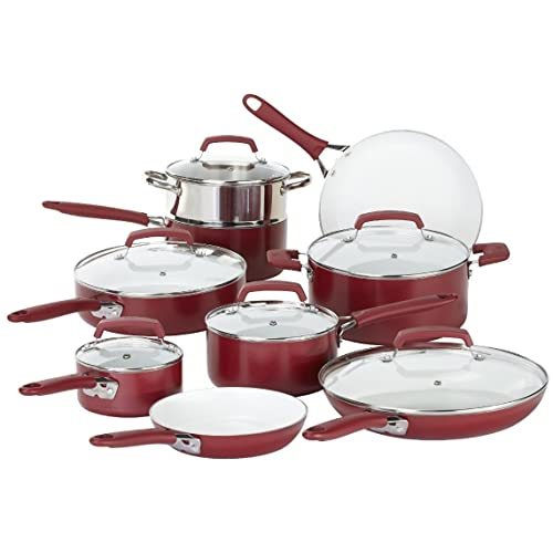 WearEver 15-Piece Ceramic Cookware Set
