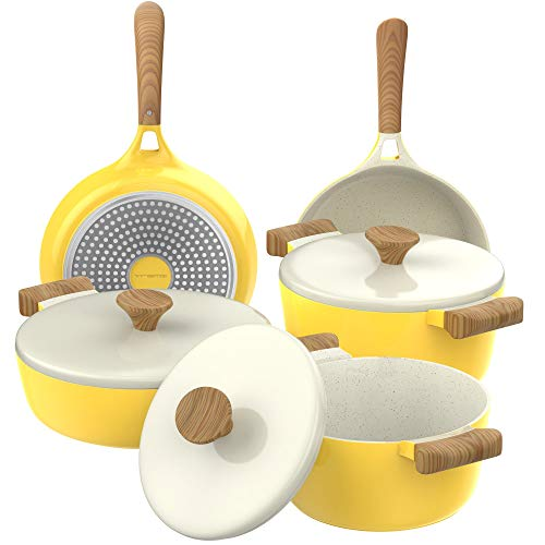 Vremi 8-Piece Ceramic Nonstick Cookware Set