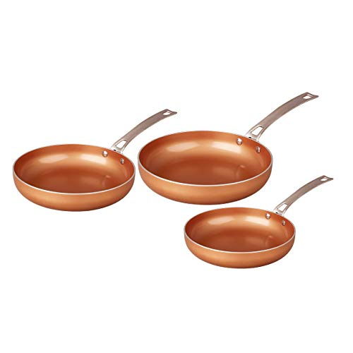 Concord 3-Piece Ceramic Coated Frying Pan Cookware Set