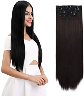 REECHO Hair Extensions Clip In 4 Pieces Thick Hair Piece